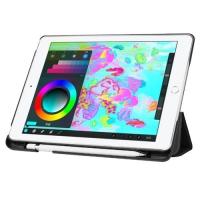 """Чехол Fashion Smart Case для iPad 2017 9,7"""" с держателем для стилуса Apple Pencil Черный"""