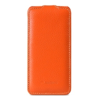 чехол melkco leather case для iphone se оранжевый