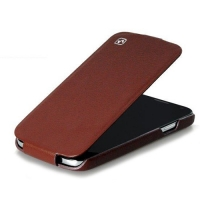 чехол hoco leather case для galaxy siv s4 i9500 коричневый
