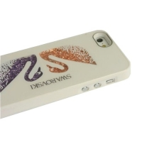 накладка iphone 5/5s лебеди с кристаллами swarovski белый