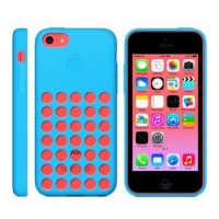 силиконовый чехол для iphone 5c (копия) синий