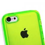 Накладка бампер для iPhone 5C Глянцевая зеленый