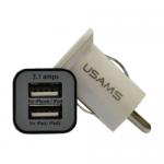 Автомобильное зарядное  USAMS 2 USB 3.1А