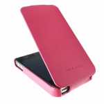 Чехол HOCO Duke leather case для iPhone 4/4S малиновый