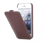 Чехол Melkco Leather Case для iPhone 5 / 5S коричнеый