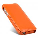 Чехол Melkco Leather Case для iPhone 5 / 5S оранжевый