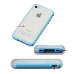 накладка бампер для iphone 4 / 4s разные цвета