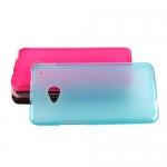 Накладка для HTC One M7 матовая разные цвета