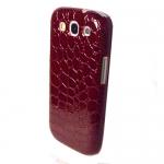 Накладка под крокодила для Samsung SIII S3 I9300 Красный